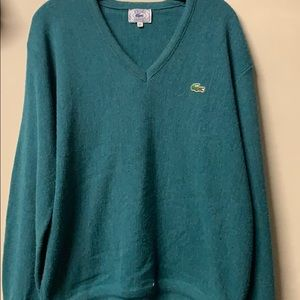 Vintage Mens or Women's Lacoste Cardigan Sweater